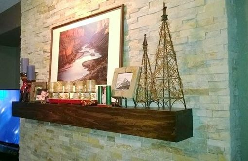 Custom Made Custom Wood Mantel Shelf