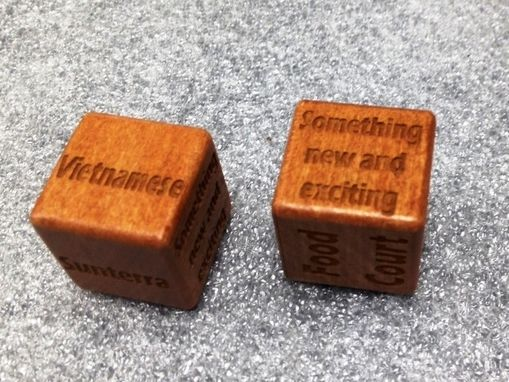 Custom Made 2 Wooden Dice With Box