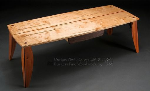 Custom Made Rorschach Coffee Table In Maple And Mahogany