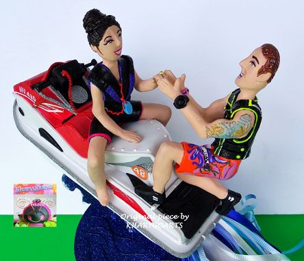 Custom Made Jetski Wedding Cake Topper Look Alike
