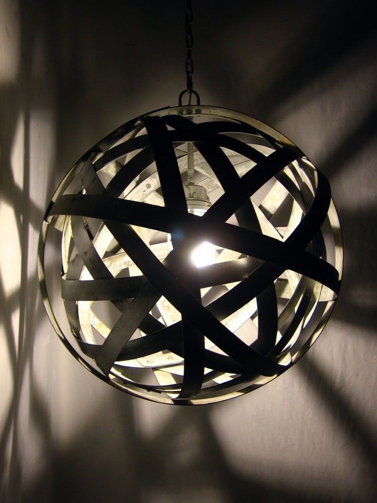 Buy Hand Crafted Orbits Urbanindustrial Light Recycled Wine Barrel