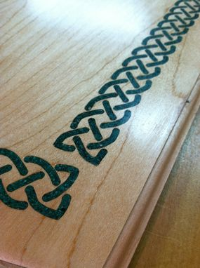 Custom Made Irish Table With Stone Celtic Knot Inlay On Top