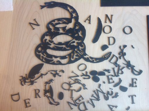 Custom Made Laser Cut Snake Stencil