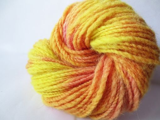 Custom Made Handspun Yarn / Hand Dyed / Variegated Yarn / Hand Spun Wool Yarn / Handspun Worsted Weight Yarn