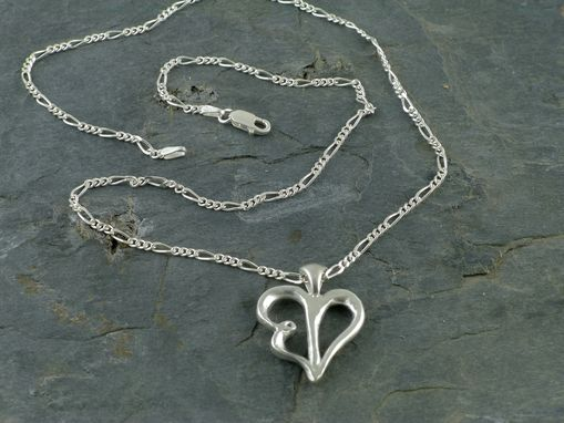 Custom Made Script Heart Necklace