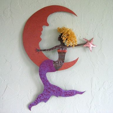 Custom Made Mermaid Wall Metal Art Recycled Metal Ocean Decor Wall Hanging Beach House Wall Sculpture Very Large