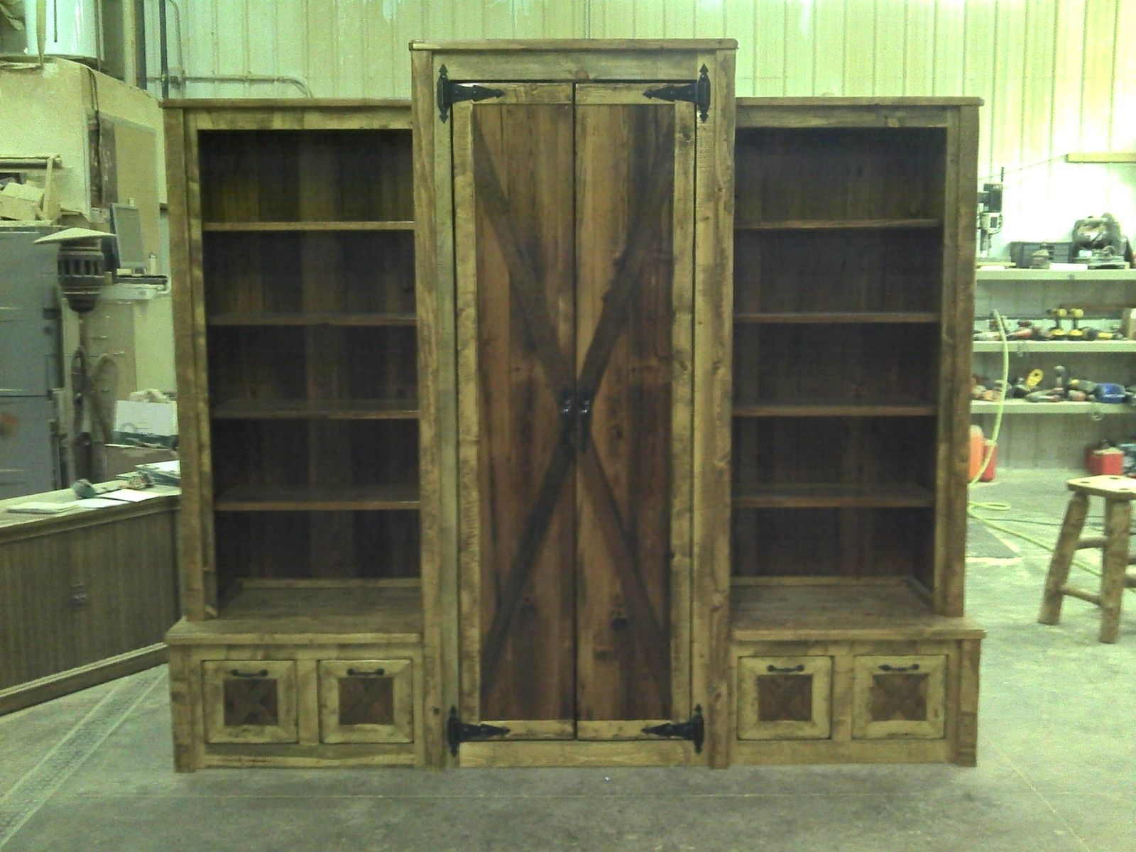 Hand Made Custom Barn Wood Entrance Way Cabinet by Ireland's Wood ...
