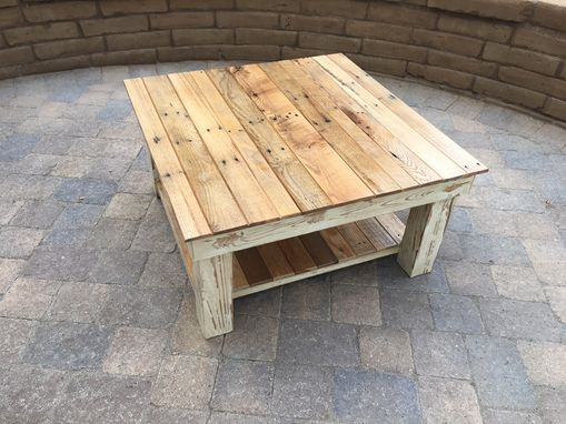 Custom Made Rustic Farmhouse Reclaimed Wood Coffee Table