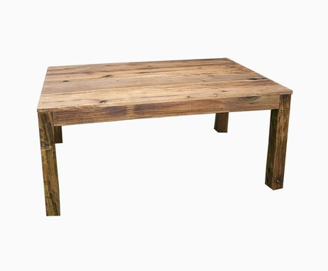 Custom Made Reclaimed Antique Wood Parsons Table
