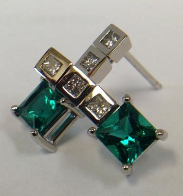 Custom Made Emerald Earrings