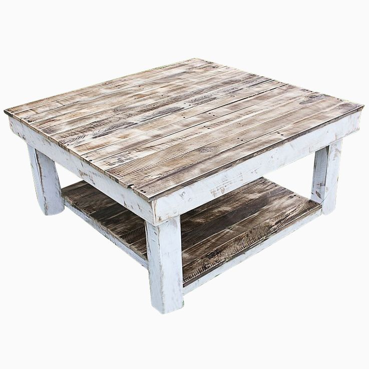 Salvaged Wood Coffee Table ~ Buy a hand made shabby farmhouse reclaimed wood coffee