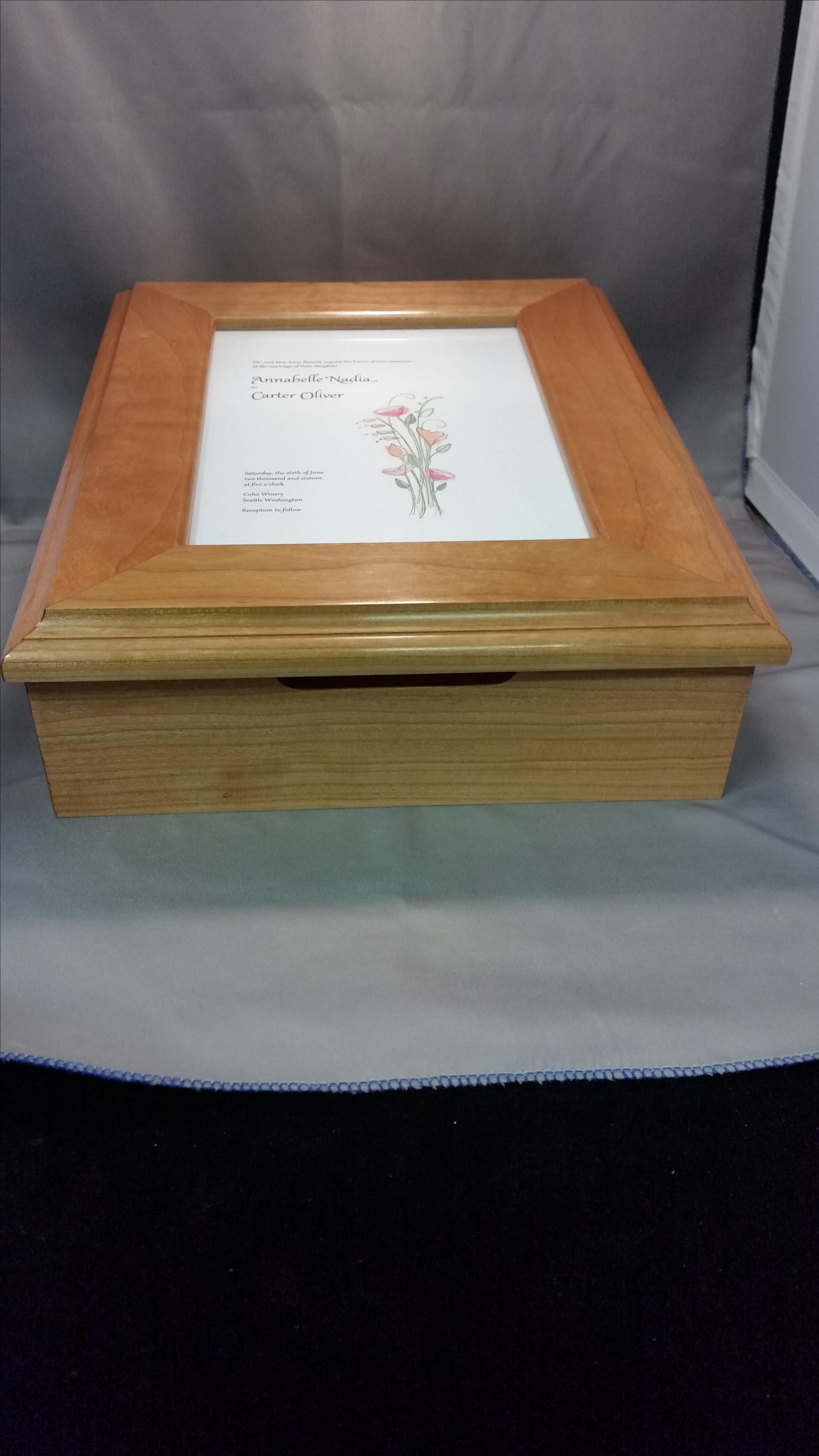 Hand Crafted Wedding Invitation Keepsake Box by Andrew Betschman ...