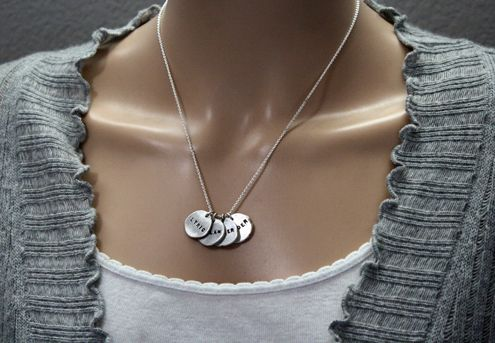 Custom Made Fine Silver Dainty Disc Necklace