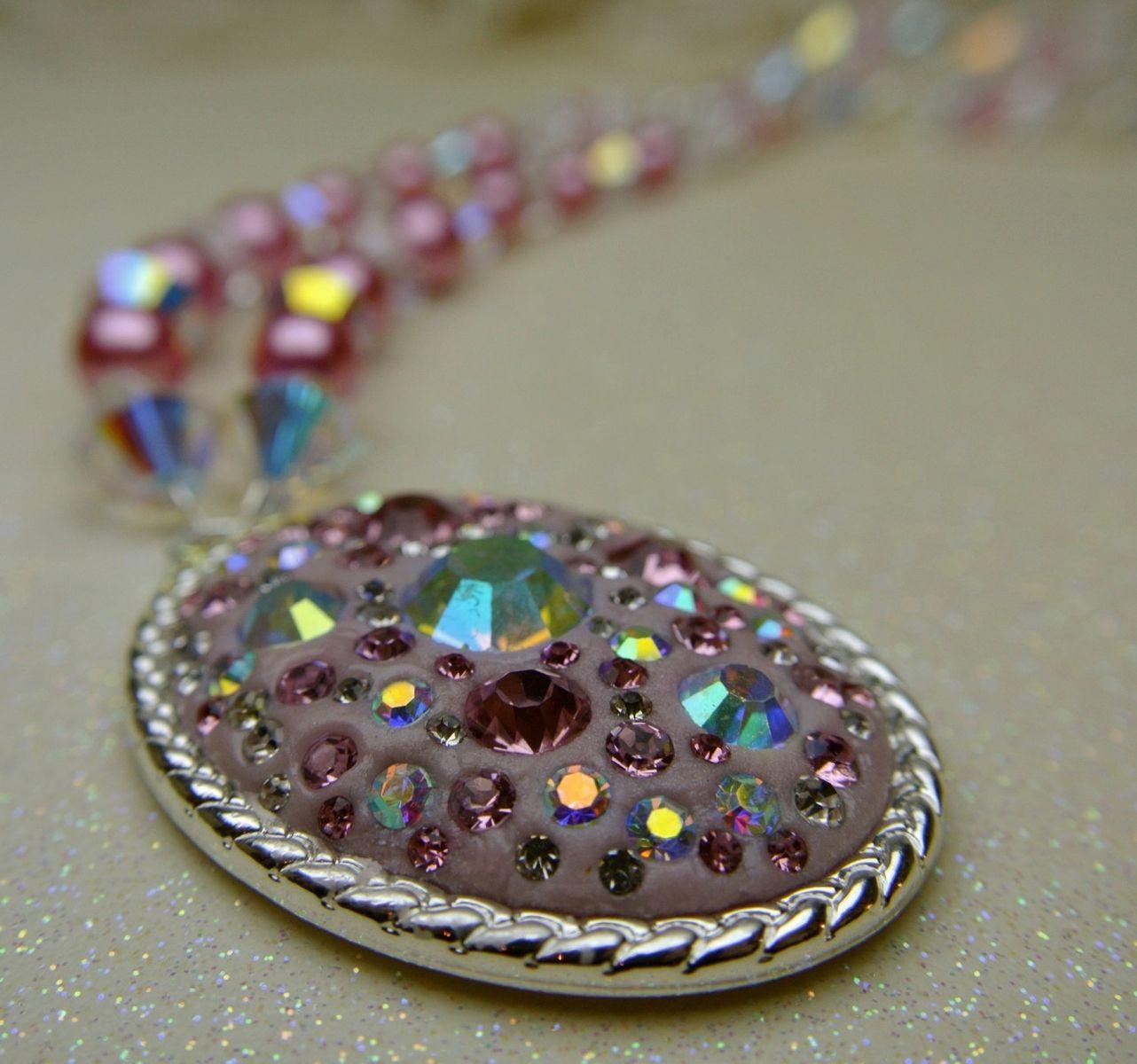 Custom Made Swarovski Crystal Chatons In Crystal Clay Oval