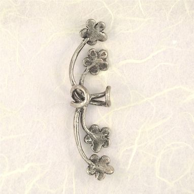 Custom Made Forget Me Not Ear Cuff Silver