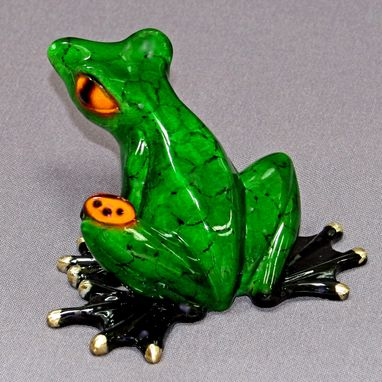 Custom Made Incredible Bronze Frog Figurine Statue Sculpture Limited Edition Signed Numbered