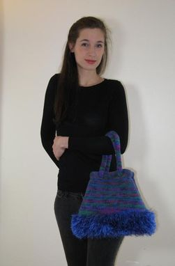 Custom Made Blue Hill Handbag Or Shoulderbag