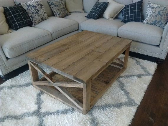 Enjoyable Buy Hand Made Farmhouse Style Coffee Table With X Beams Theyellowbook Wood Chair Design Ideas Theyellowbookinfo