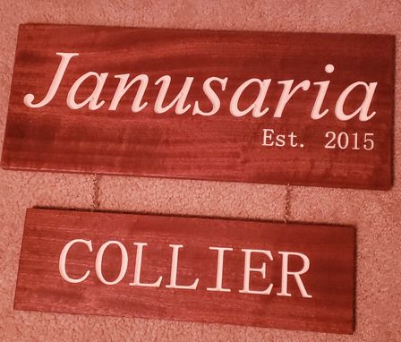 Custom Made 2 Piece Family Name Established Sign