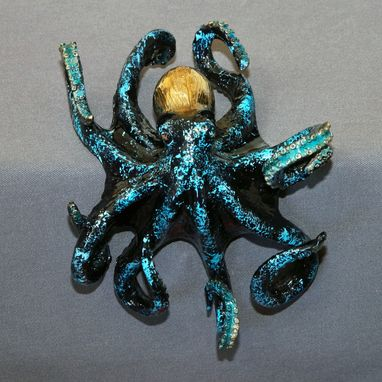 "Custom Made Bronze Octopus ""Octavio Octopus"" Figurine Statue Sculpture Aquatic Limited Edition Signed & Numbered"