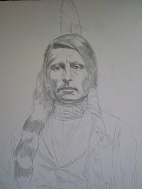 Custom Made Acrylic On Board Portrait For A Mural (3' X 8' Board Includes 2 Portraits): Indians 2