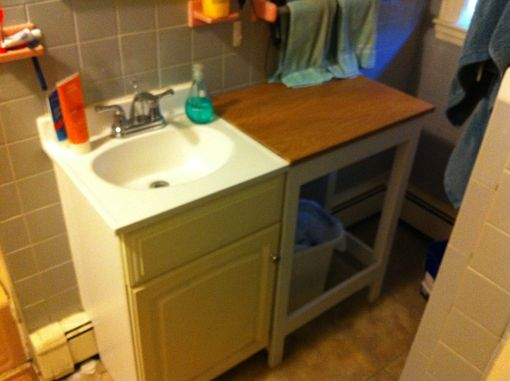 Custom Made Simple Bathroom Vanity Table