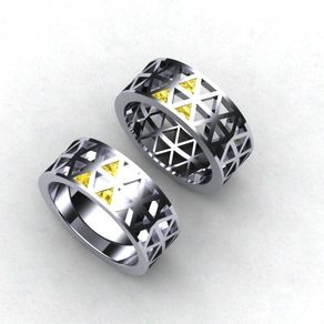 zelda tri force ring zelda ring gents by paul bierker - R2d2 Wedding Ring