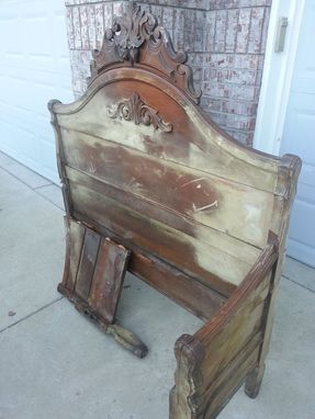 Custom Made Restoration Of Antique Bench After Colorado Flood (9/13)