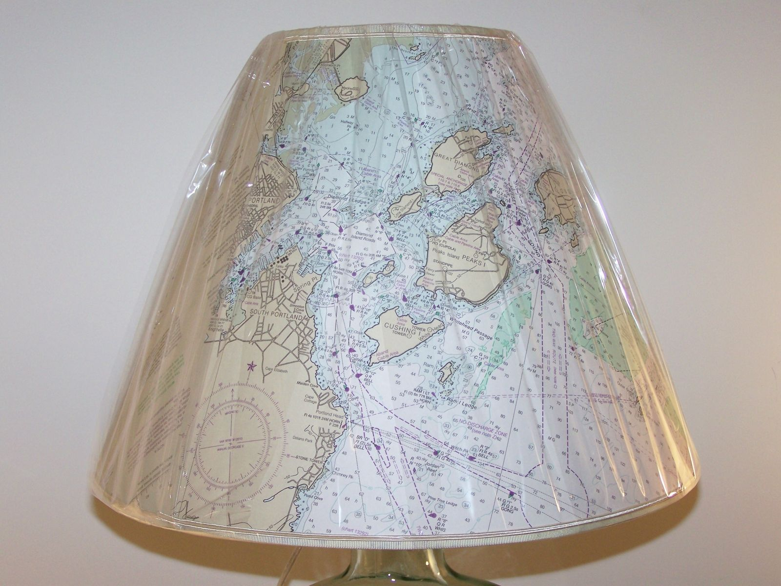Hand Crafted Custom Made Nautical Chart Lampshade by Barbara