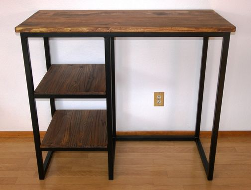 Custom Made Modern Industrial Desk, Urban Rustic Work Station