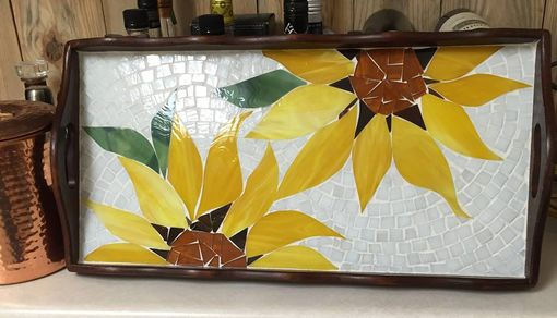 Custom Made Sunfllower Serving Tray
