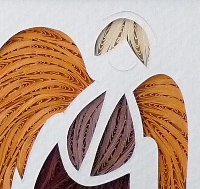 Custom Made Quilled Guardian Angel Wall Art Framed