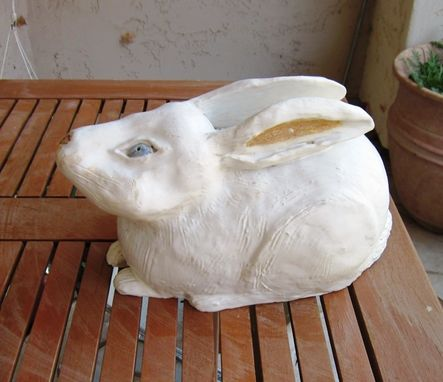 Custom Made Sculpted Ceramic White Rabbit