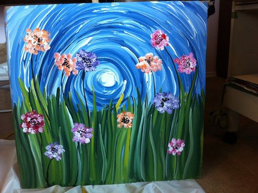 Custom Made Swirls Of Flowers, Painting