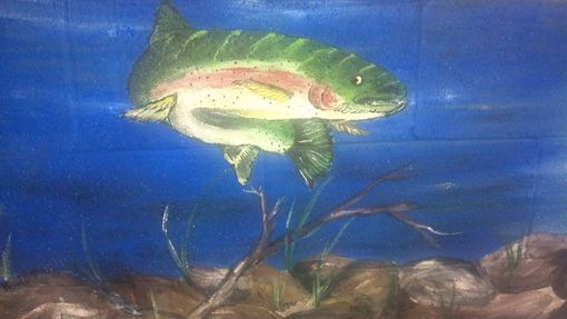 Custom Made Handpainted Fish Mural