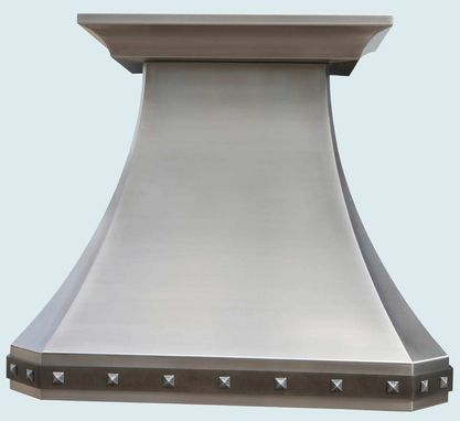 Custom Made Stainless Range Hood With Steel Strap & Zinc Clavos