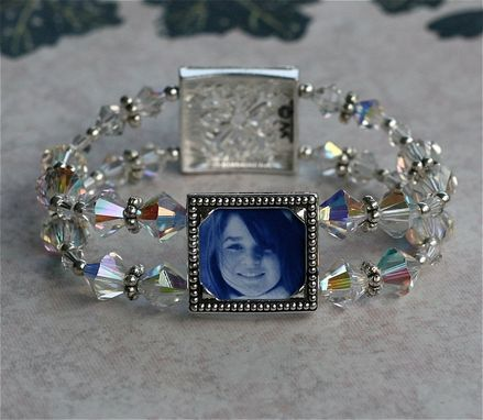 Custom Made Photo Frame Bracelet - Picture Bracelet With Sparkling Swarovski Crystal