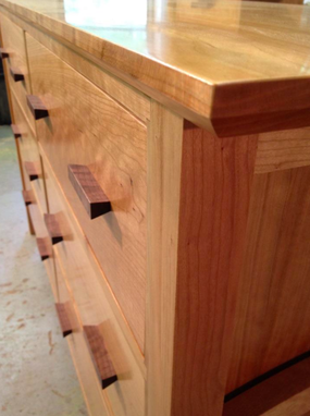 Custom Made Cherry Chest Of Drawers
