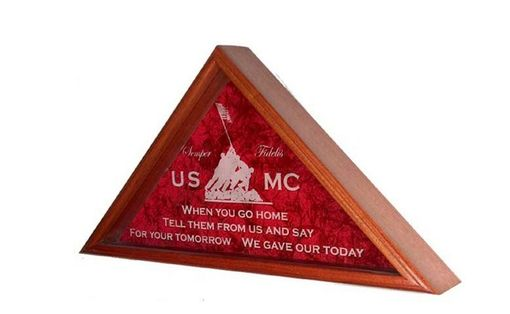 Custom Made Laser Engraved Flag Display Case- Flag Case