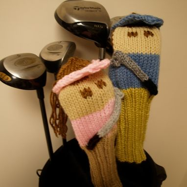 Custom Made Golfer Knit Golf Club Cover