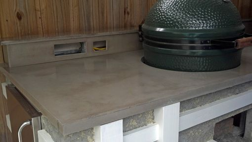 Custom Made Concrete Countertop For Outdoor Kitchen