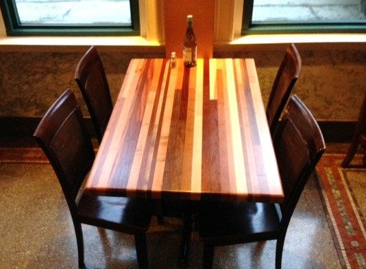 Custom Made Multi Hardwood Table Tops By Paul S Green Barn