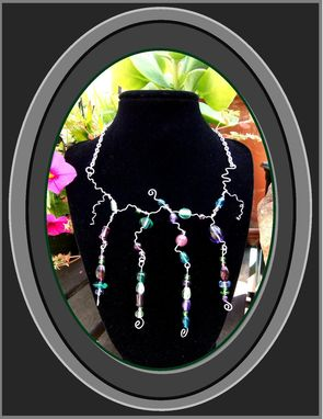 Custom Made Abstract,Water Fall,Necklace