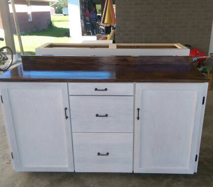 Custom Made Laundry Room Storage Cabinet