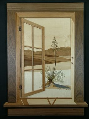 Custom Made Marquetry Window Scenes