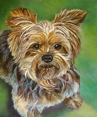 Custom Made Custom Commissioned Oil Painting ~ Dog Rascal