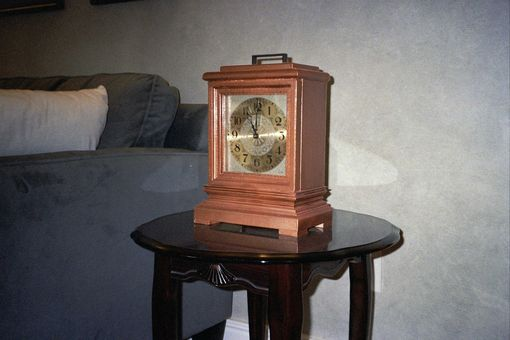 Custom Made Copper Finished Mantle Clock
