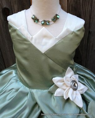 Custom Made Tiana Princess Lily Dress Necklace For Child Custom Couture