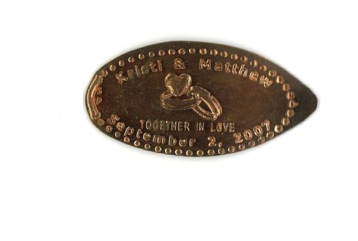Custom Made Custom Copper Wedding Reception Coins