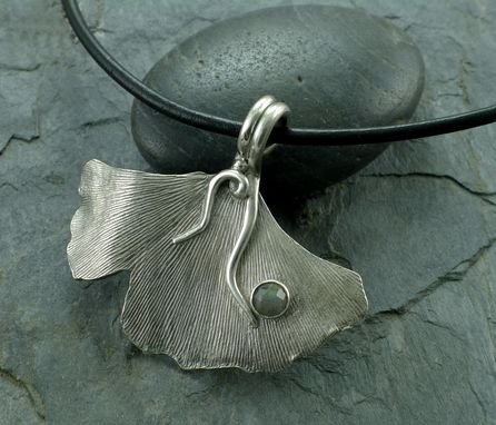 Custom Made Fine Silver Ginkgo Necklace